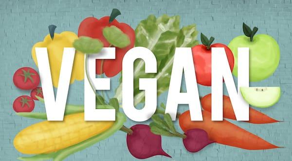 Veganと野菜のイラスト
